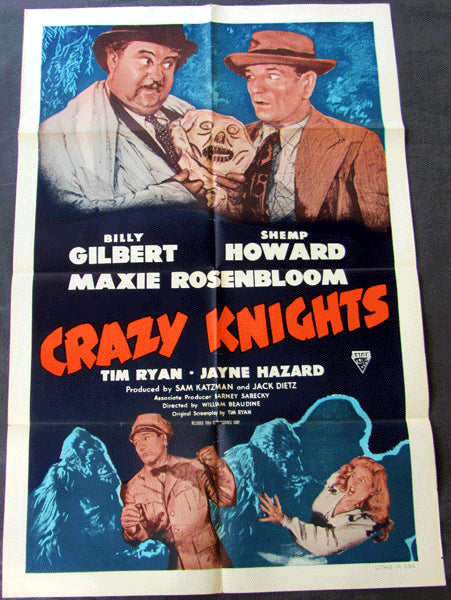 ROSENBLOOM, MAXIE MOVIE POSTER (CRAZY KNIGHTS-1944)