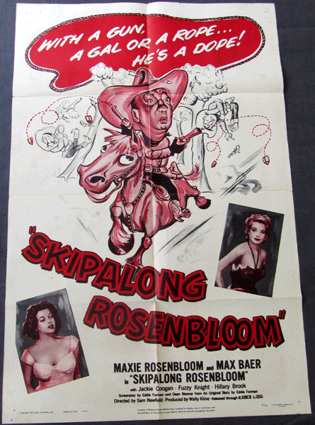 ROSENBLOOM, MAXIE & MAX BAER MOVIE POSTER IN SKIPALONG ROSENBLOOM (1951)