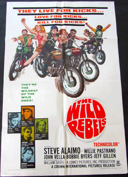 PASTRANO, WILLIE MOVIE POSTER IN THE WILD REBELS (1967)