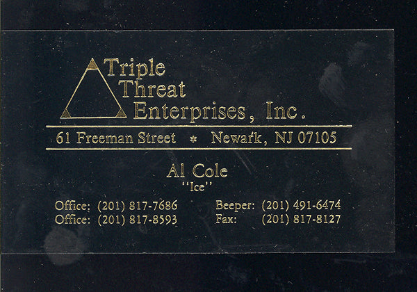"COLE, AL ""ICE"" BUSINESS CARD"