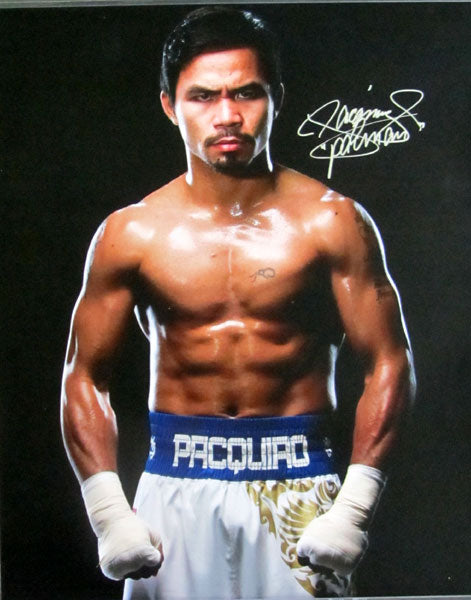 PACQUIAO, MANNY LARGE SIGNED PHOTO (16 x 20)