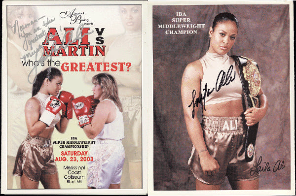 ALI, LAILA-CHRISTY MARTIN SIGNED OFFICIAL PROGRAM (2003-SIGNED BY ALI)