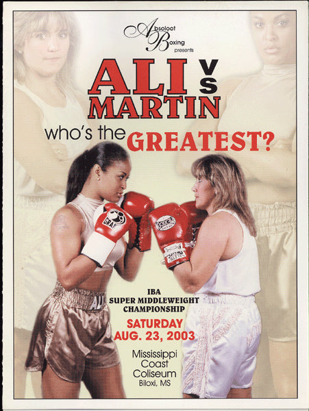 ALI, LAILA-CHRISTY MARTIN OFFICIAL PROGRAM (2003)