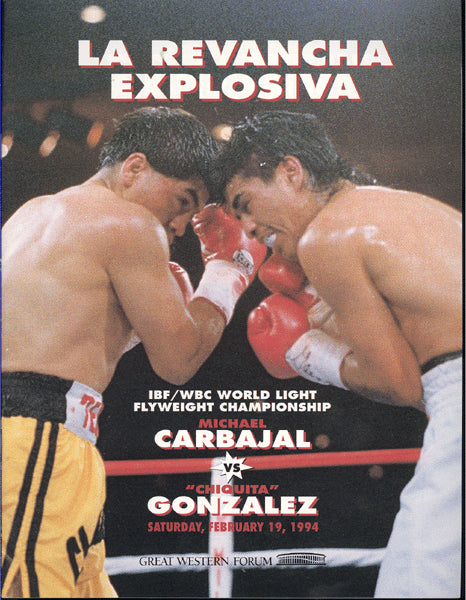 CARBAJAL, MICHAEL-CHIQUITA GONZALEZ II OFFICIAL PROGRAM (1994)