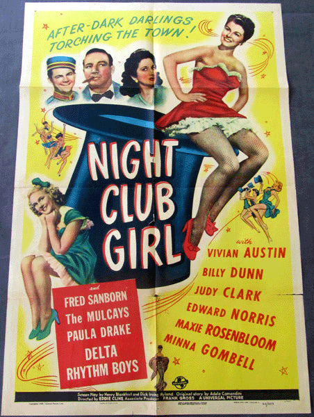 ROSENBLOOM, MAXIE MOVIE POSTER (NIGHT CLUB GIRL-1945)