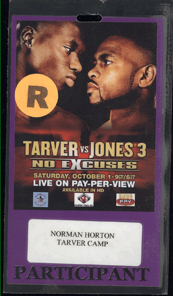 JONES, JR., ROY-ANTONIO TARVER III CREDENTIAL (2005)