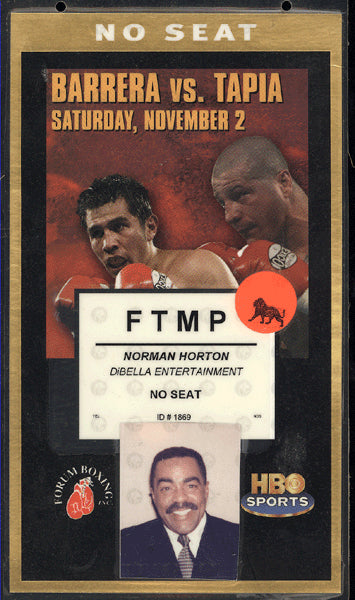 BARRERA, MARCO ANTONIO-JOHNNY TAPIA CREDENTIAL (2002)