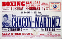 CHACON, BOBBY-MANUAL CONCEPCION MARTINEZ ON SITE POSTER (1976-SIGNED BY CHACON)