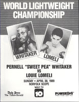 WHITAKER, PERNELL-LOUIE LOMELI OFFICIAL PROGRAM (1989)