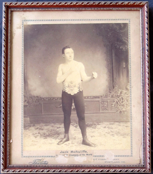 MCAULIFFE JACK ANTIQUE PHOTOGRAPH (AS CHAMPION)