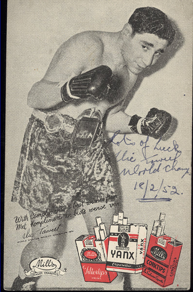 TOWEEL, VIC SIGNED ADVERTISING POSTCARD