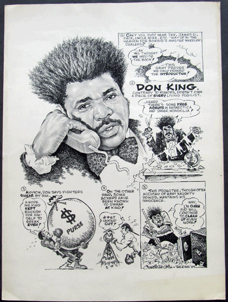 KING, DON CARTOON ART (1984-BY CHARLIE MCGILL)