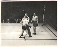 MCLARNIN, JIMMY-BENNY LEONARD WIRE PHOTO (1932-END OF FIGHT)