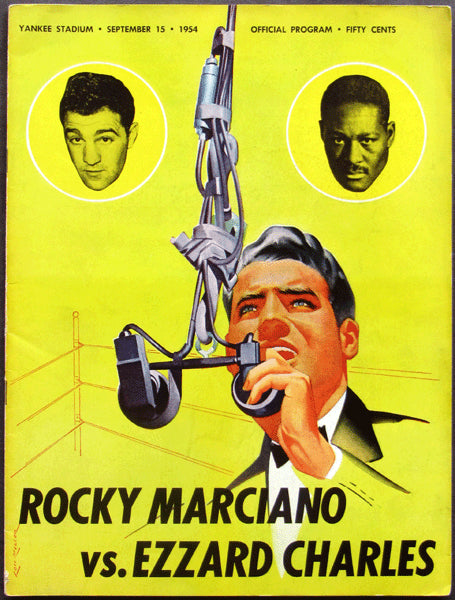 MARCIANO, ROCKY-EZZARD CHARLES II OFFICIAL PROGRAM (1954)