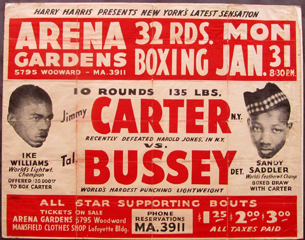 CARTER, JIMMY-TALMADGE BUSSEY ON SITE POSTER (1949)