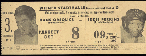 PERKINS, EDDIE-HANS ORSOLICS FULL TICKET (1970)