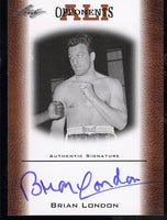 LONDON, BRIAN SIGNED ALI OPPONENTS LEAF CARD (2010)