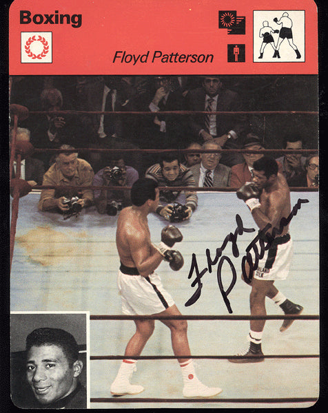 PATTERSON, FLOYD SIGNED ITALIAN BOXING CARD