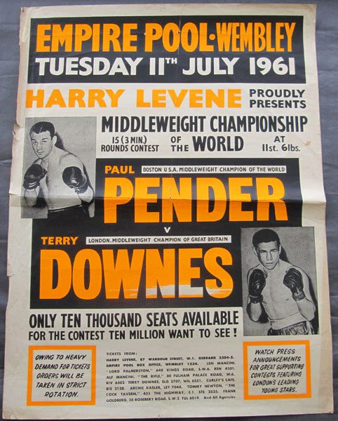 PENDER, PAUL-TERRY DOWNES ON SITE POSTER (1961)