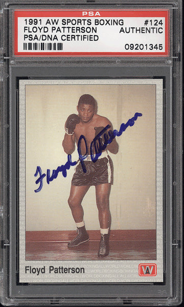 PATTERSON, FLOYD SIGNED A & W SPORTS CARD (1991-PSA/DNA)