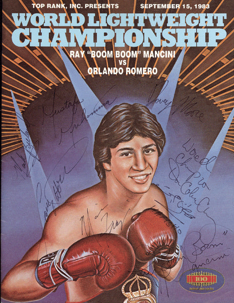 "MANCINI, RAY ""BOOM BOOM""-ORLANDO ROMERO SIGNED OFFICIAL PROGRAM (1983)"