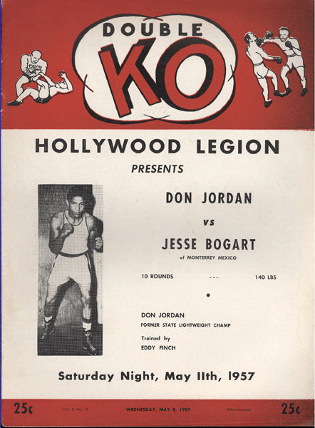 JORDAN, DON-JESSE BOGART OFFICIAL PROGRAM (1957)