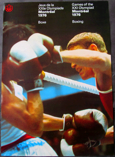 OLYMPIC BOXING POSTER 1976 (LEONARD, SPINKS, DAVIS)