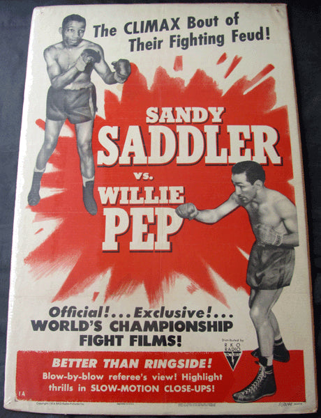 SADDLER, SANDY-WILLIE PEP FIGHT FILM POSTER (1951)
