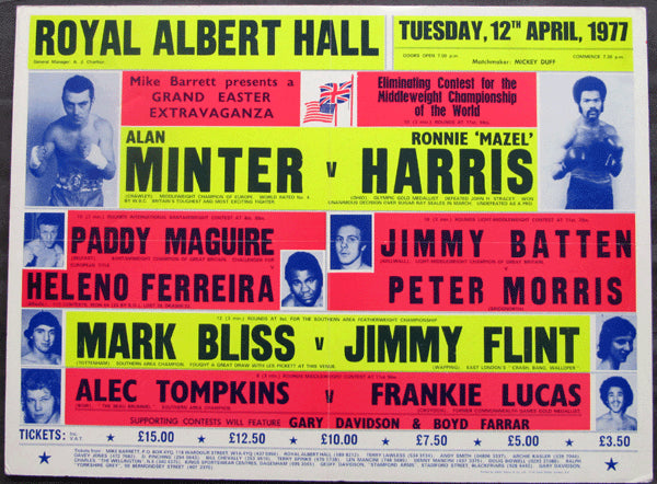 MINTER, ALAN-RONNIE HARRIS ON SITE POSTER (1977)