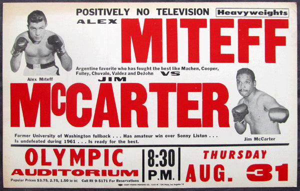 MITEFF, ALEX-JIM MCCARTER ON SITE POSTER (1961)
