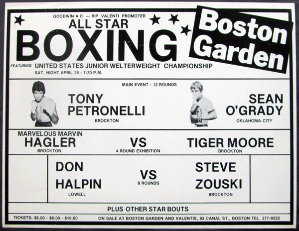 HAGLER, MARVIN ON SITE EXHIBITION POSTER (1979)