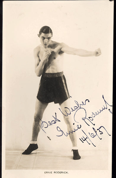 RODERICK, ERNIE SIGNED PHOTOGRAPH