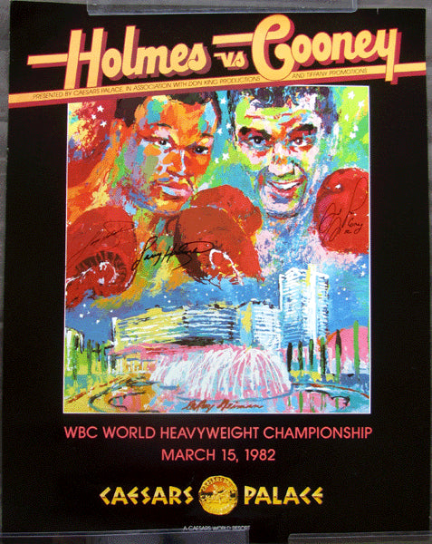 HOLMES, LARRY-GERRY COONEY SIGNED ON SITE POSTER (1982-SIGNED BY BOTH)