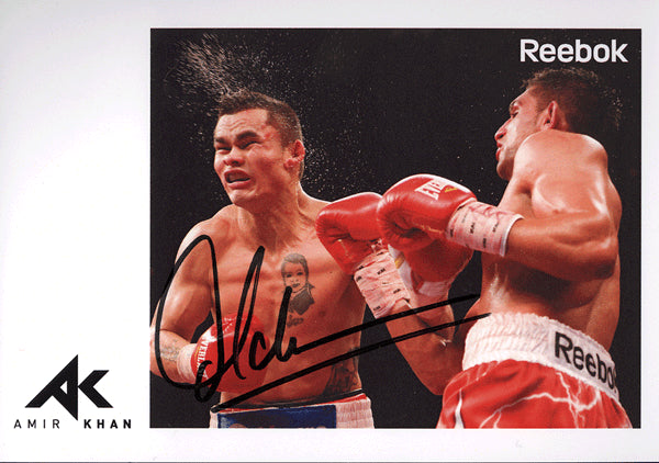 KHAN, AMIR SIGNED PHOTO