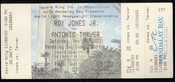 JONES, JR., ROY-ANTONIO TARVER FULL TICKET (2003)