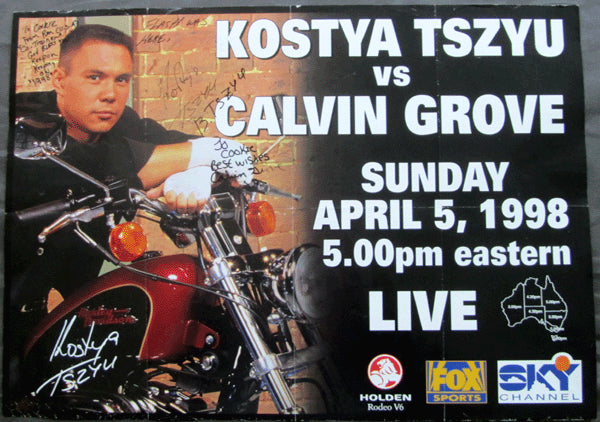 TSZYU, KOSTYA-CALVIN GROVE SIGNED CLOSED CIRCUIT POSTER (1998-SIGNED BY BOTH)
