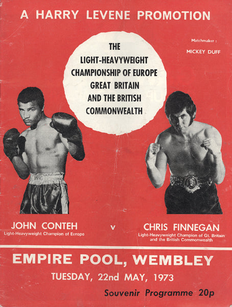 CONTEH, JOHN-CHRIS FINNEGAN OFFICIAL PROGRAM (1973)