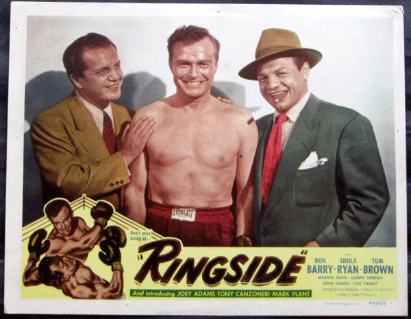 CANZONERI, TONY LOBBY CARD (1949-RINGSIDE)