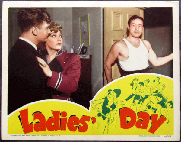 BAER, MAX MOVIE LOBBY CARD (LADIES DAY-1943)