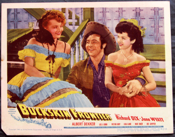 BAER, MAX MOVIE LOBBY CARD (1943-BUCKSKIN FRONTIER)