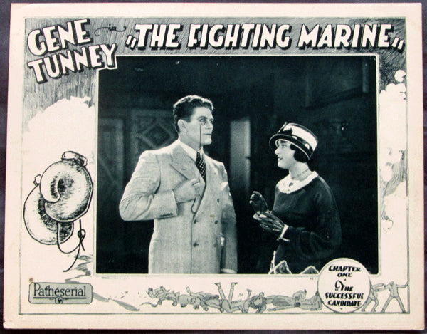 TUNNEY, GENE MOVIE LOBBY CARD (THE FIGHTING MARINE-1026)
