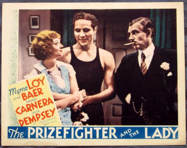 BAER, MAX MOVIE LOBBY CARD (THE PRIZEFIGHTER AND THE LADY-1933)
