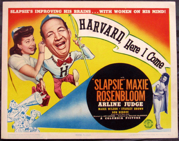 ROSENBLOOM, MAXIE MOVIE LOBBY CARD (HARVARD HERE I COME-1941)