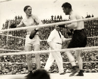 CARPENTIER, GEORGES-TOMMY GIBBONS WIRE PHOTO (2ND ROUND-1924)