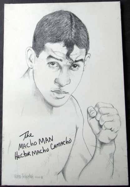 "CAMACHO, HECTOR ""MACHO"" ORIGINAL ARTWORK (1992-BY WAYNE PROKOPIAK)"