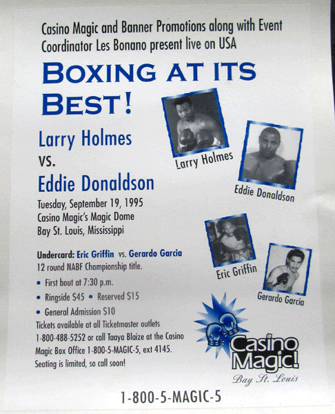 HOLMES, LARRY-ED DONALDSON ON SITE POSTER (1995)