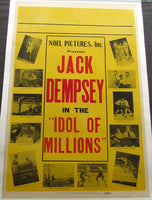 "DEMPSEY, JACK IN  THE ""IDOL OF MILLIONS"" MOVIE POSTER (1929)"