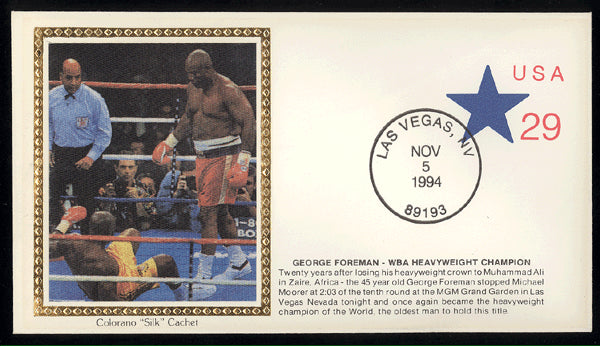 FOREMAN, GEORGE-MICHAEL MOORER FIRST DAY ENVELOPE (1994)