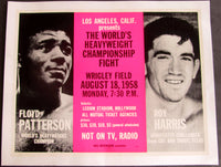 PATTERSON, FLOYD-ROY HARRIS ON SITE POSTER (1958)