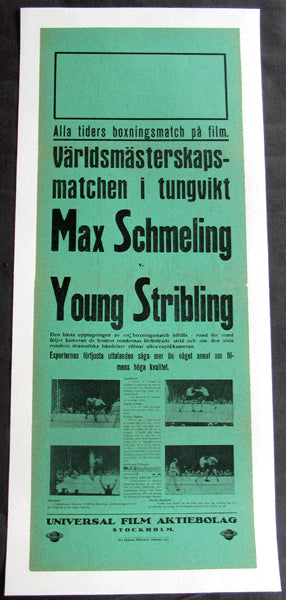 SCHMELING, MAX-YOUNG STRIBLING GERMAN FIGHT FILM POSTER (1931)
